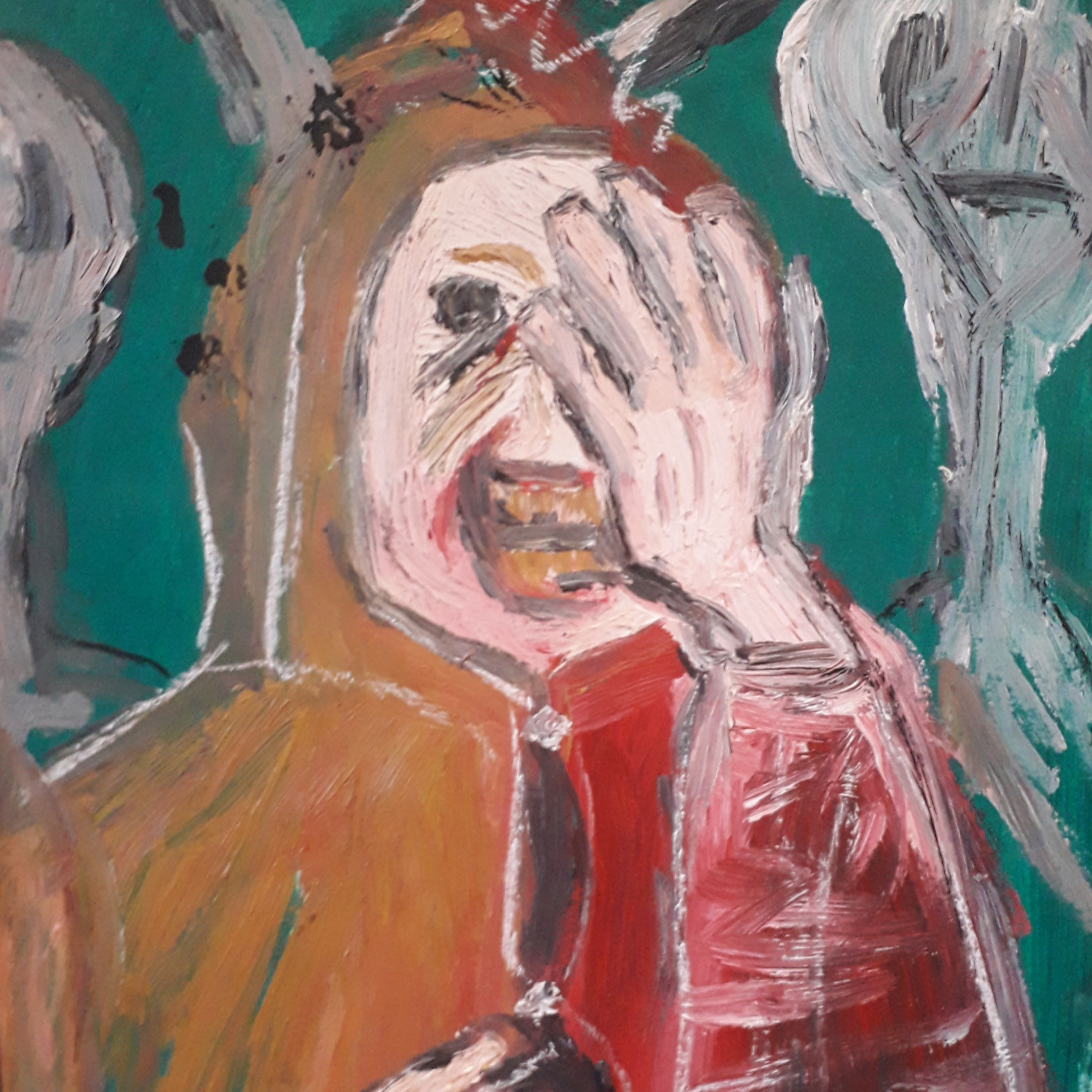 Laughing Fool Study - Oil on paper - 11×8 - £10.00