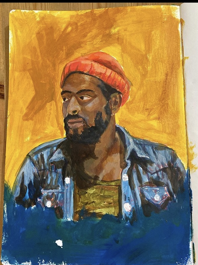Marvin Gaye study in Acrylic