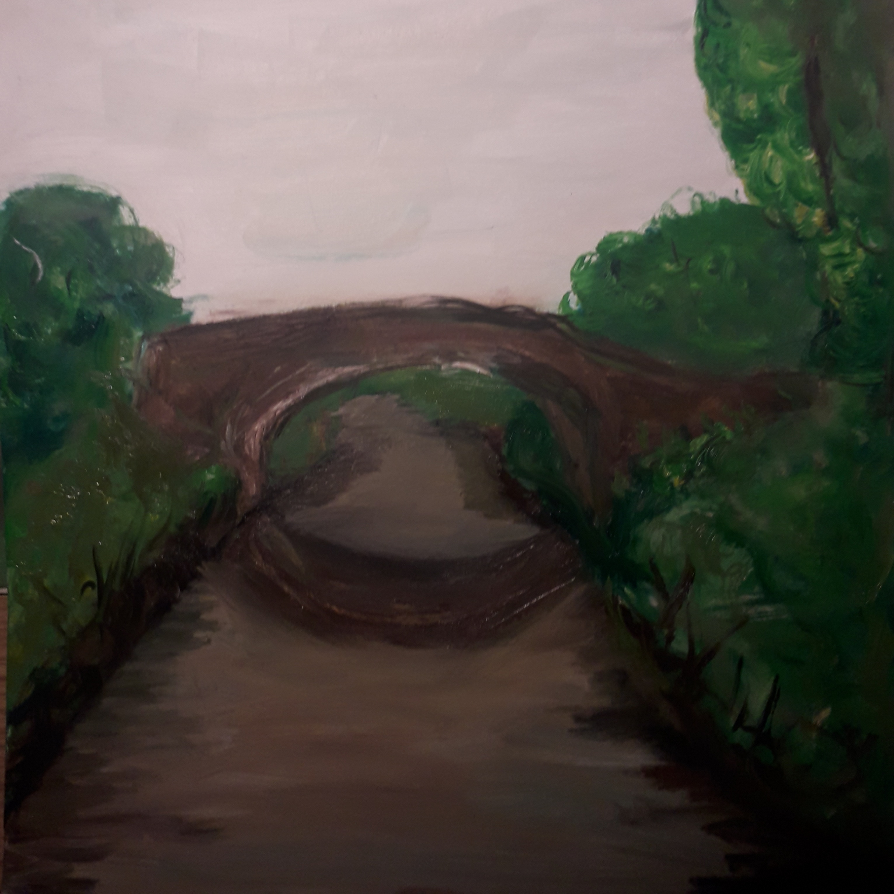 Canal Bridge - Oil on Paper - 11.5×8.25 - £10.00