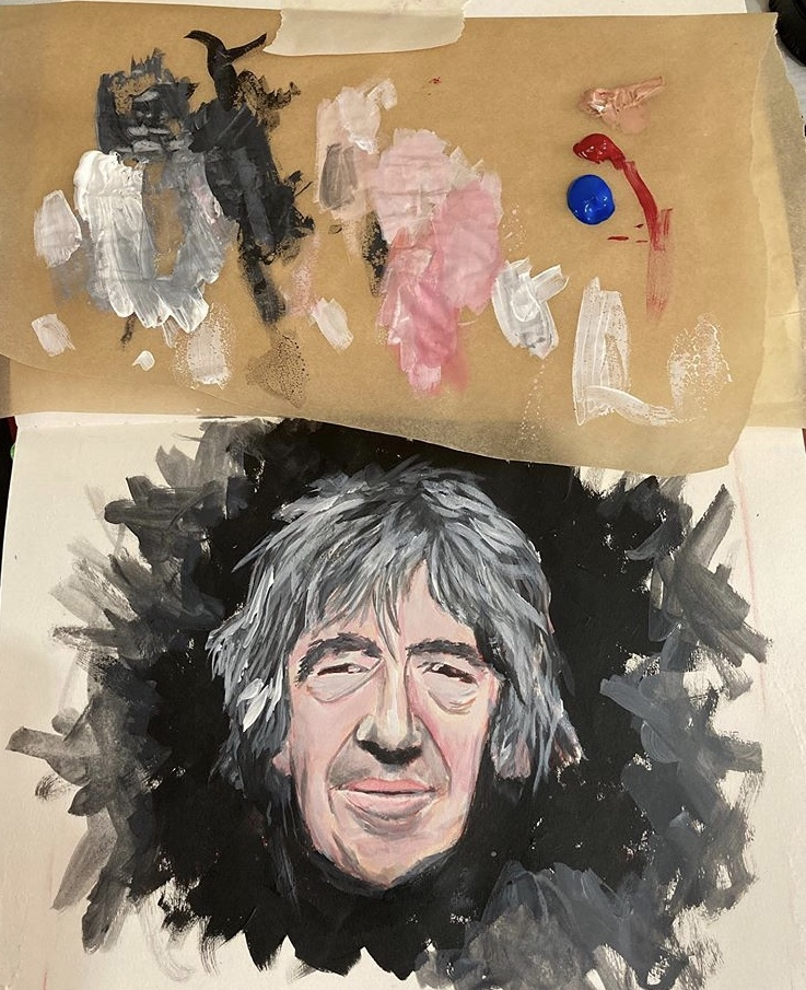 Howard Marks study in acrylic