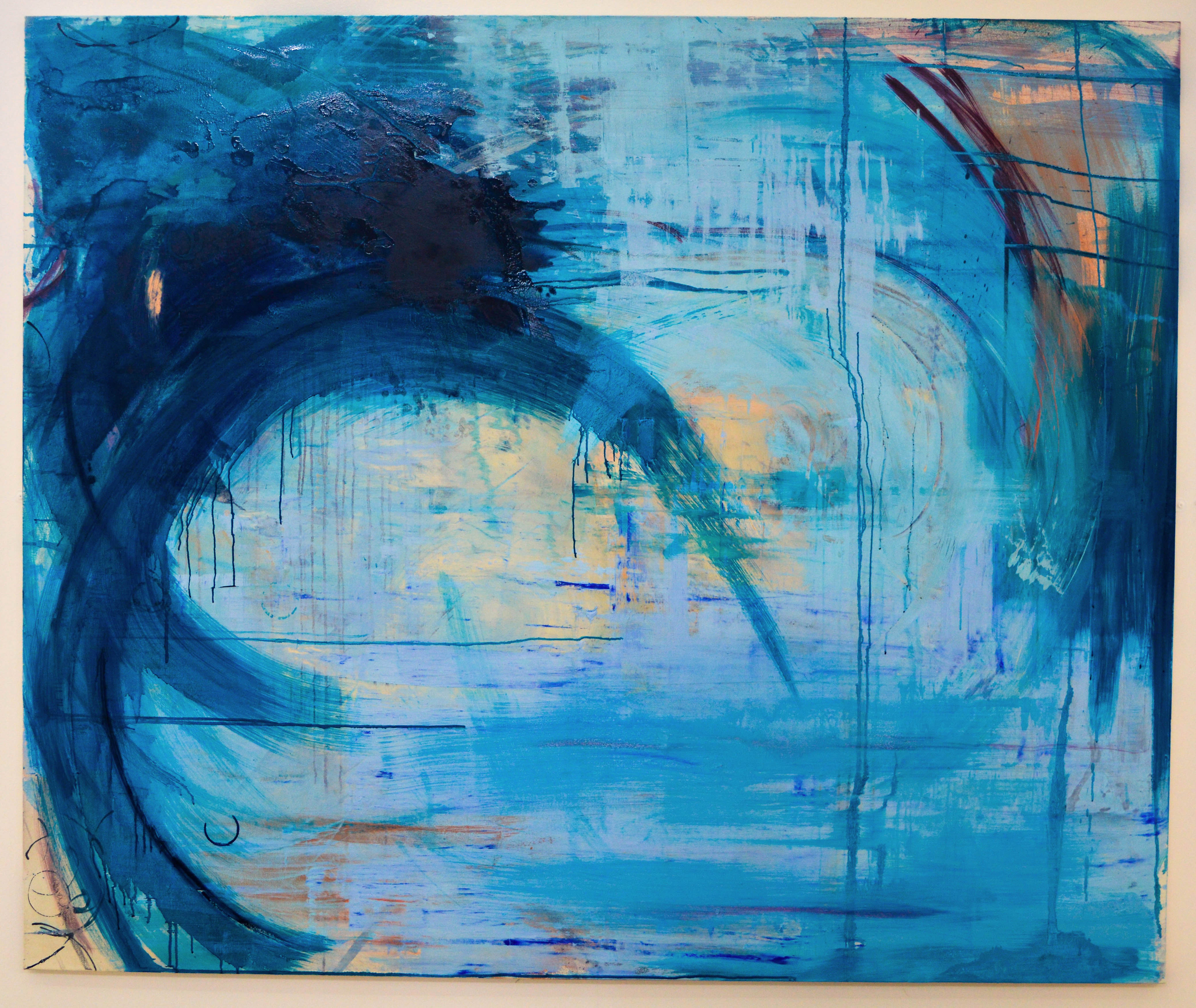 Blue Series 1. Oil on canvas. 213x177.5cm. For sale.