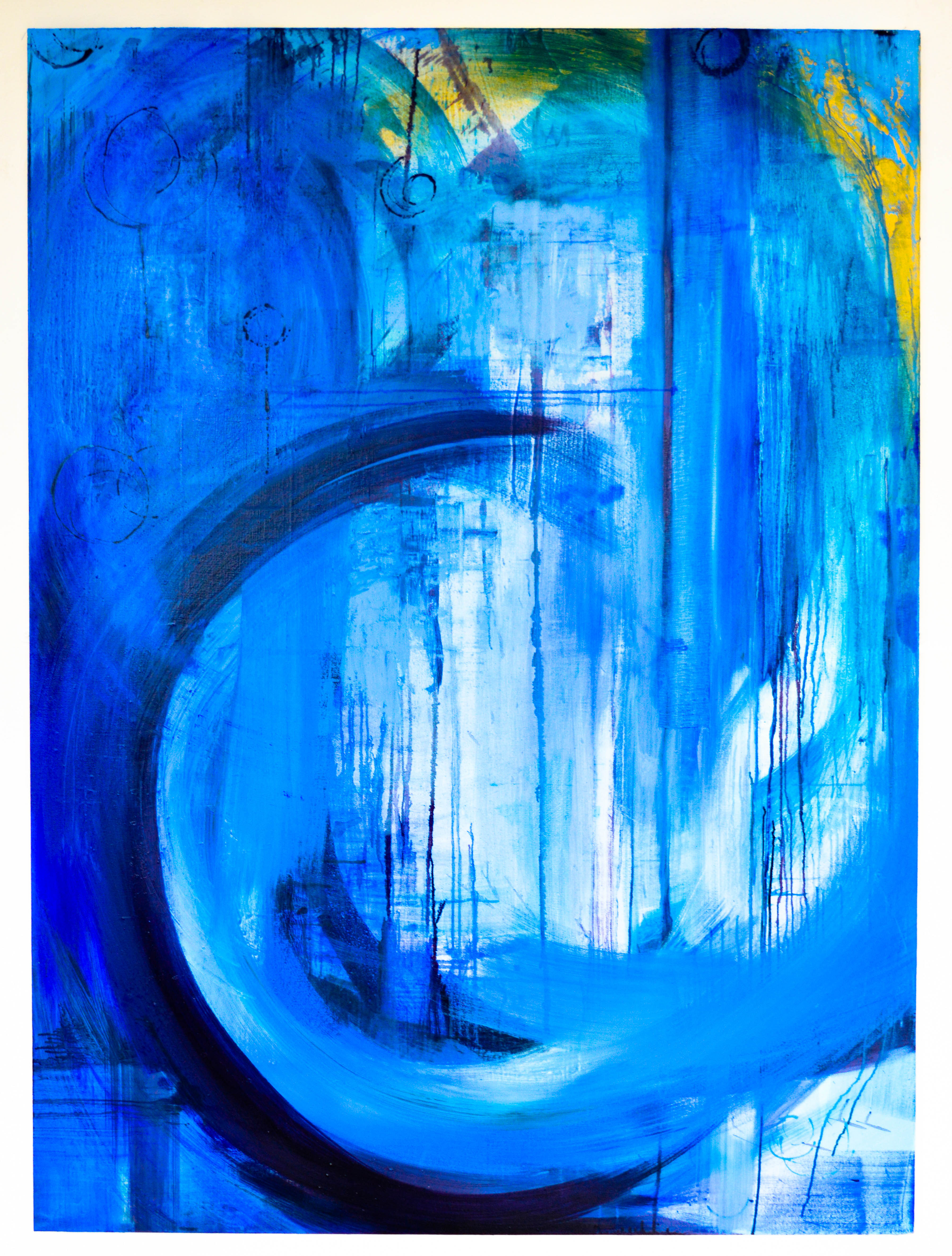 Blue Series 2.1. Oil on canvas. 182.9x134.5cm. For Sale.