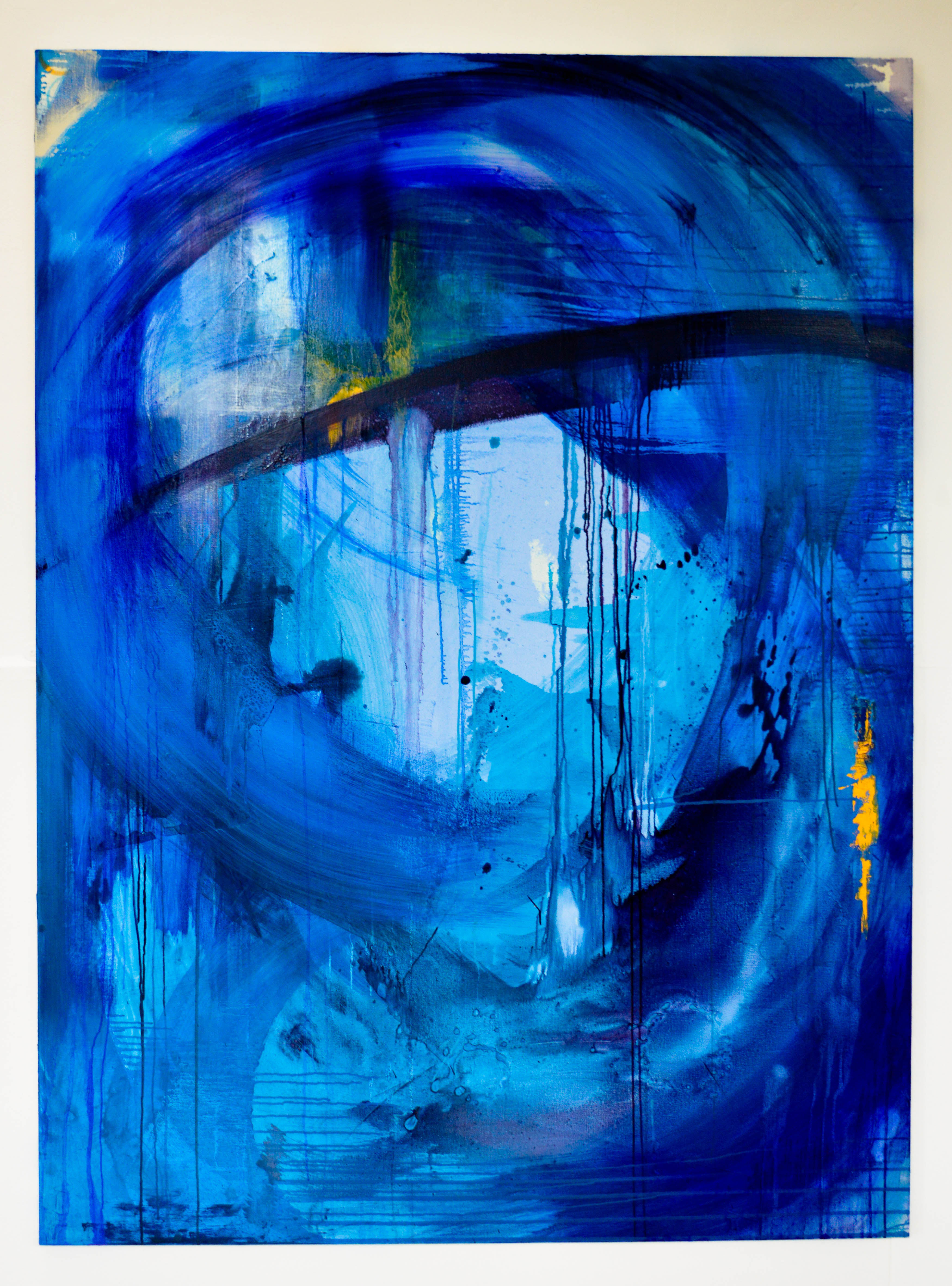 Blue Series 2.2. Oil on canvas. 182.9x134.5cm. For Sale.