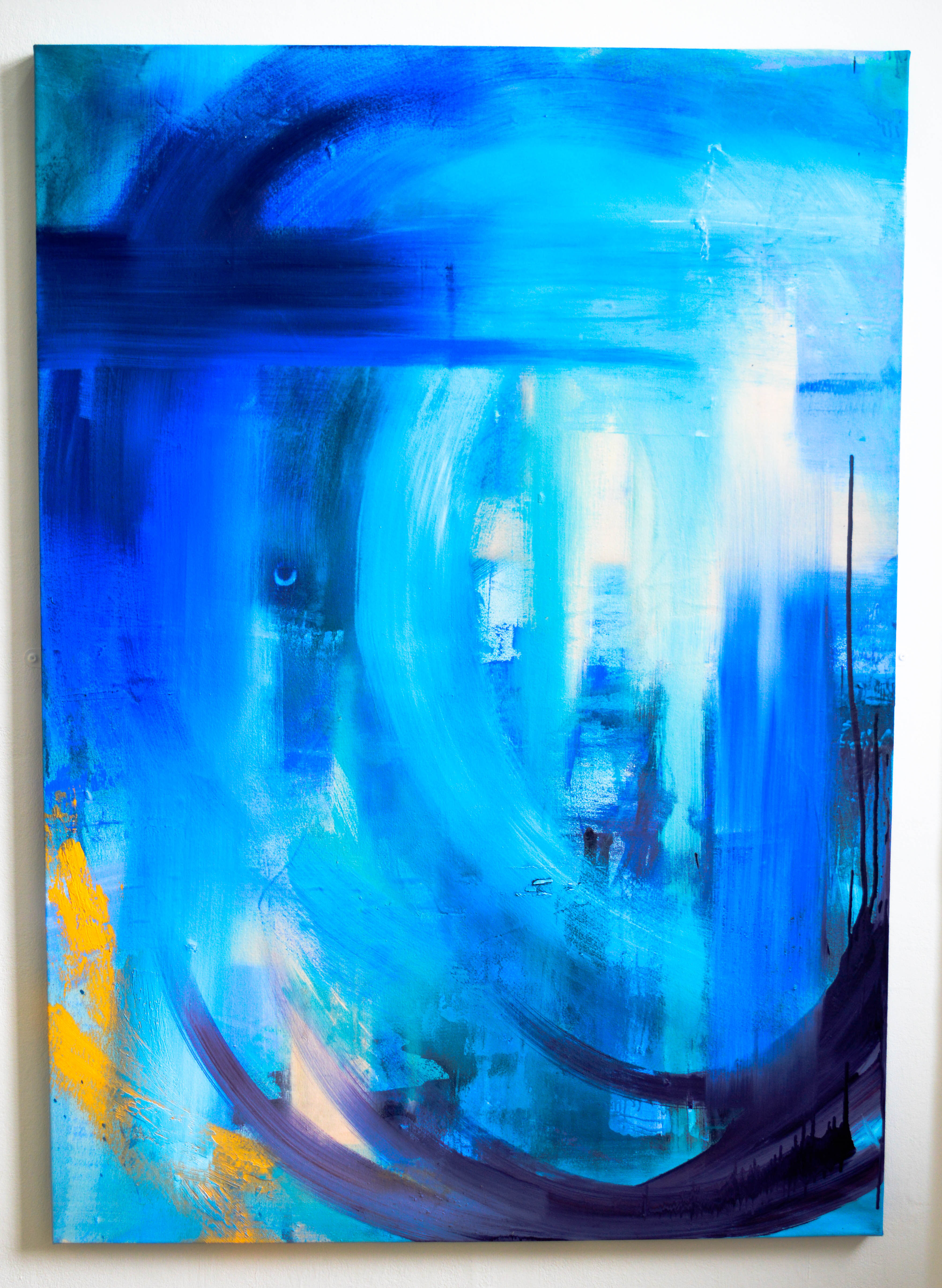Blue Series 3.1. Oil on canvas. 190.8x114.5cm. For sale.
