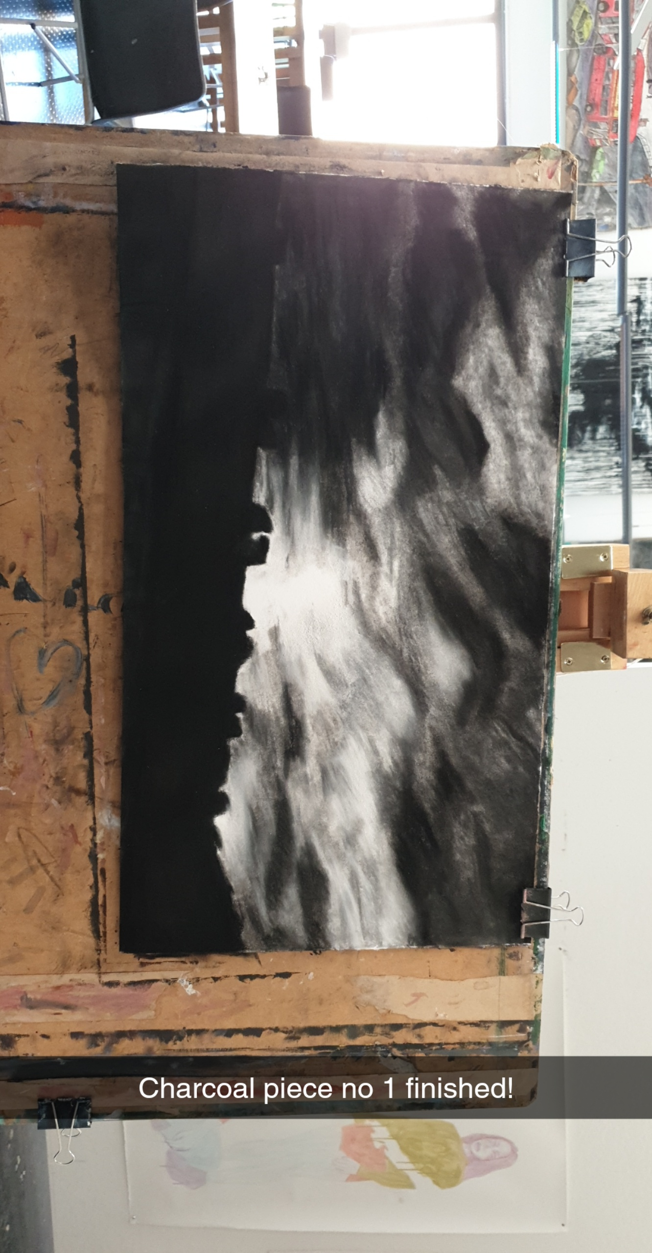 Charcoal drawing from landscape shoot