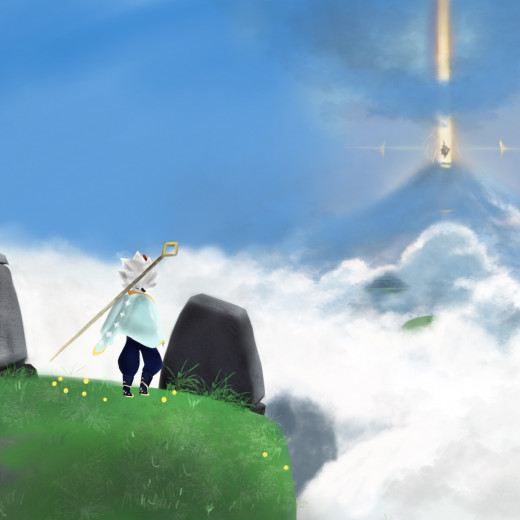 Painting of Sky: Children of the Light Game